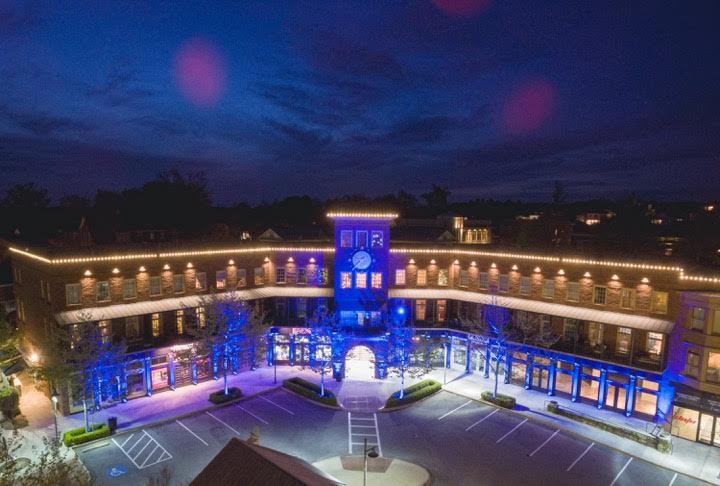 """Vickery Village """"Lights It Up Blue"""" for Autism Awareness Month"""