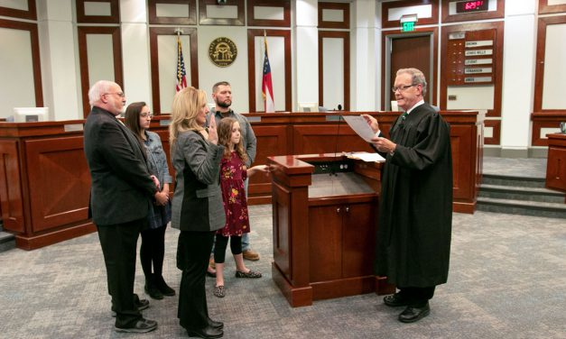 Newly-elected Forsyth County District 1 Commissioner Molly Cooper Sworn Into Office