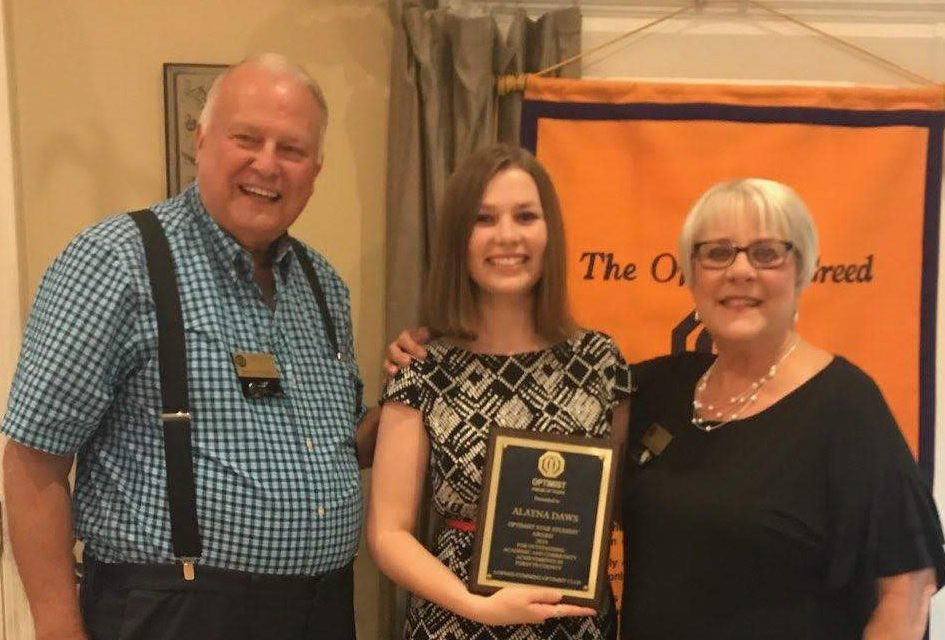 Optimists Recognize Student of the Year: Alayna Daws