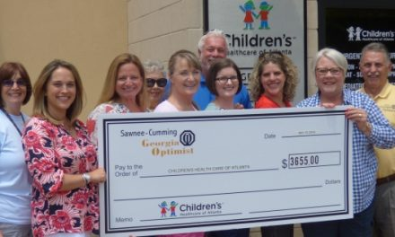 Optimists Donate to Children's Healthcare