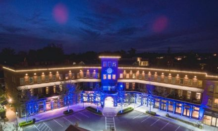 "Vickery Village ""Lights It Up Blue"" for Autism Awareness Month"
